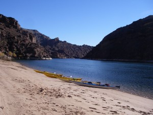 beach break in the Black Canyon